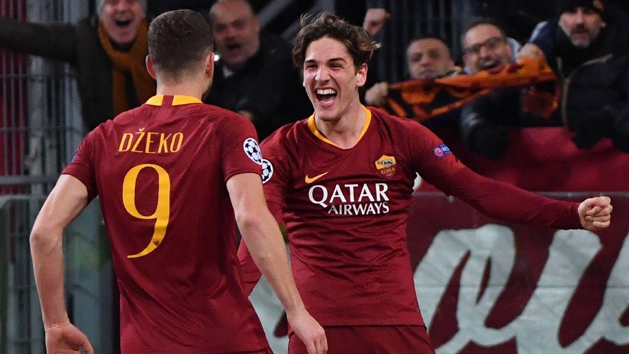 Nicolo Zaniolo strikes twice to clinch Roma win over Porto
