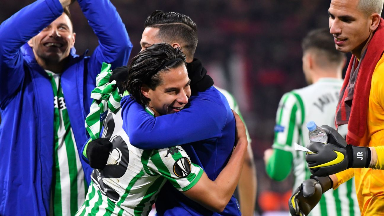 Diego Lainez's late goal salvages draw for Real Betis vs. Stade Rennes