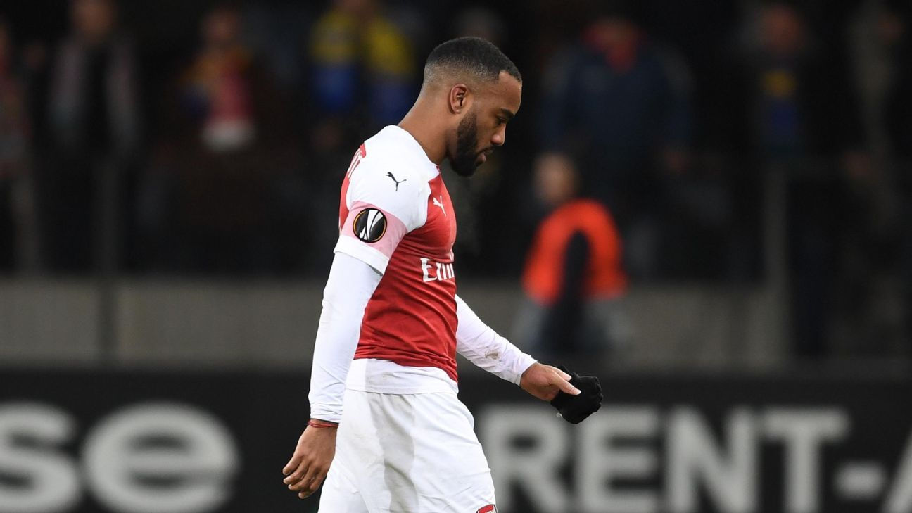 Alexandre Lacazette apologises to Arsenal fans after red card in shock BATE Borisov loss