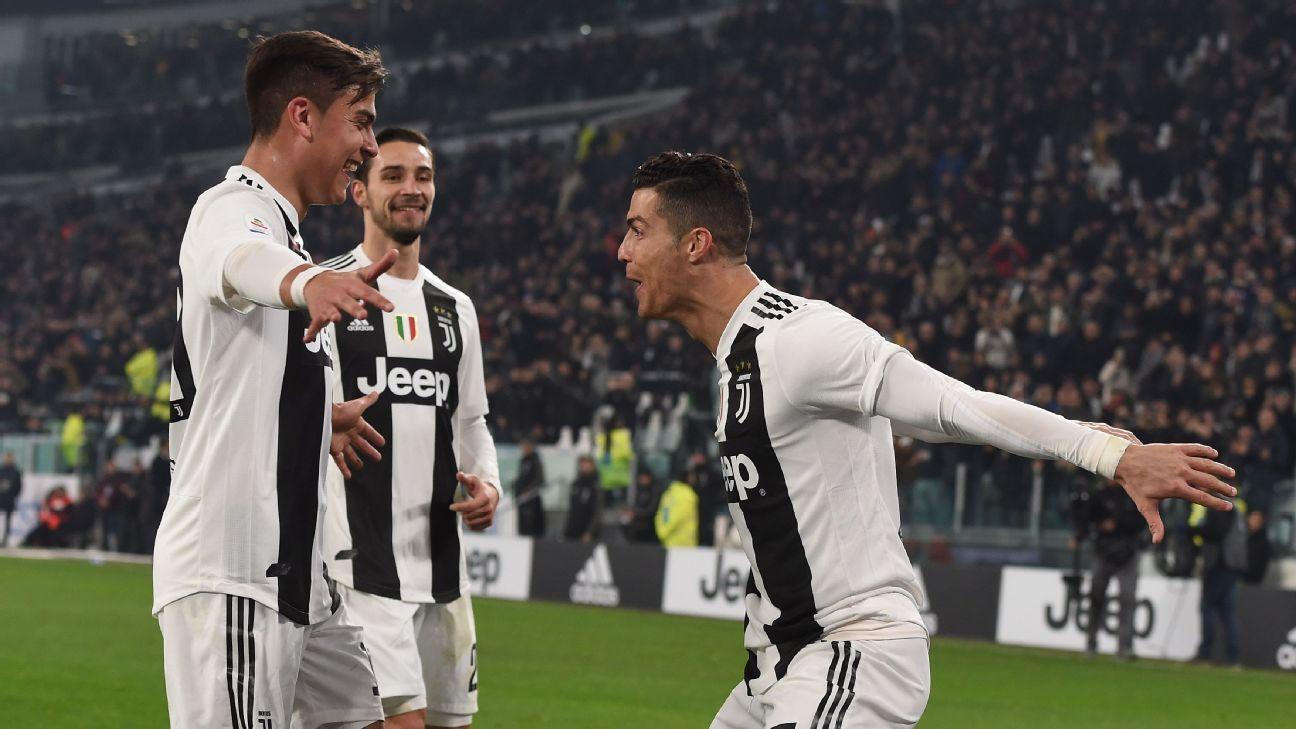 Paulo Dybala, Cristiano Ronaldo help Juventus past Frosinone