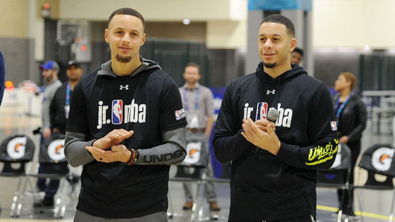 Hermanos Curry apuestan para concurso de triples