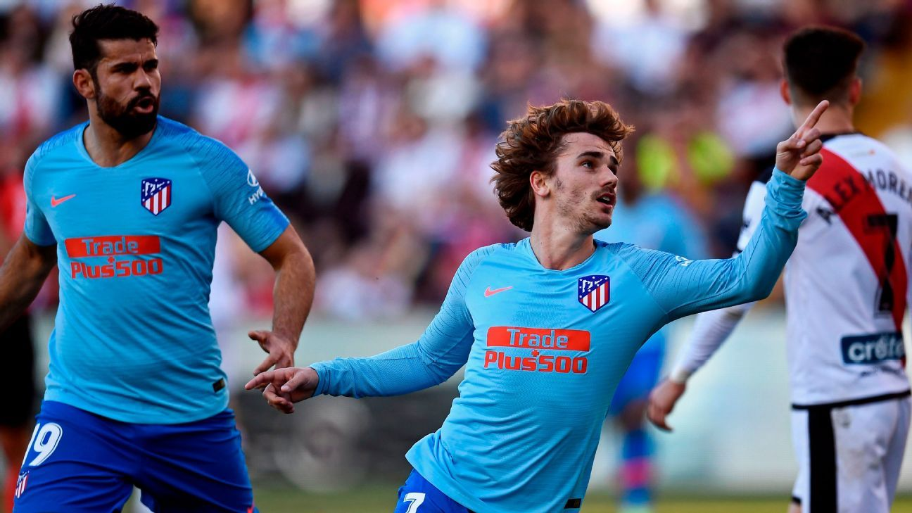 Atletico Madrid beat Rayo with late Griezmann winner as Costa returns