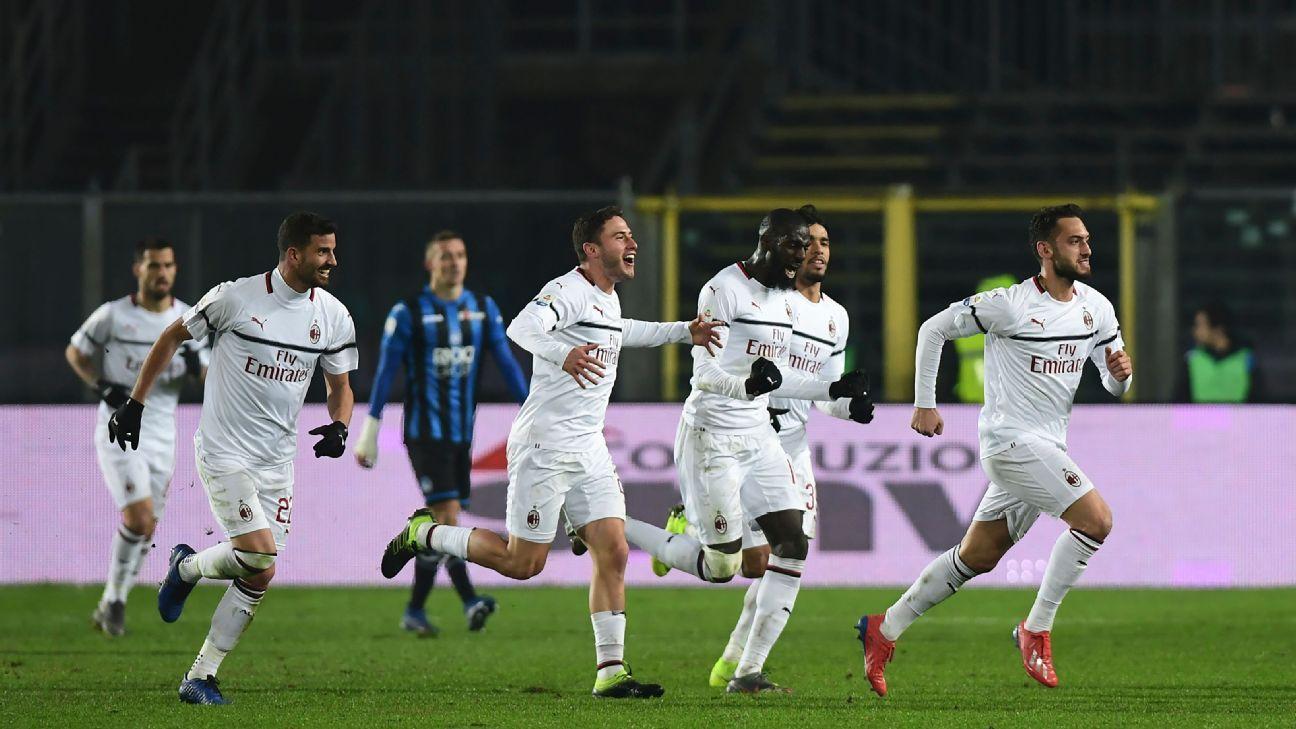 AC Milan beat Atalanta as January signing Piatek nets twice