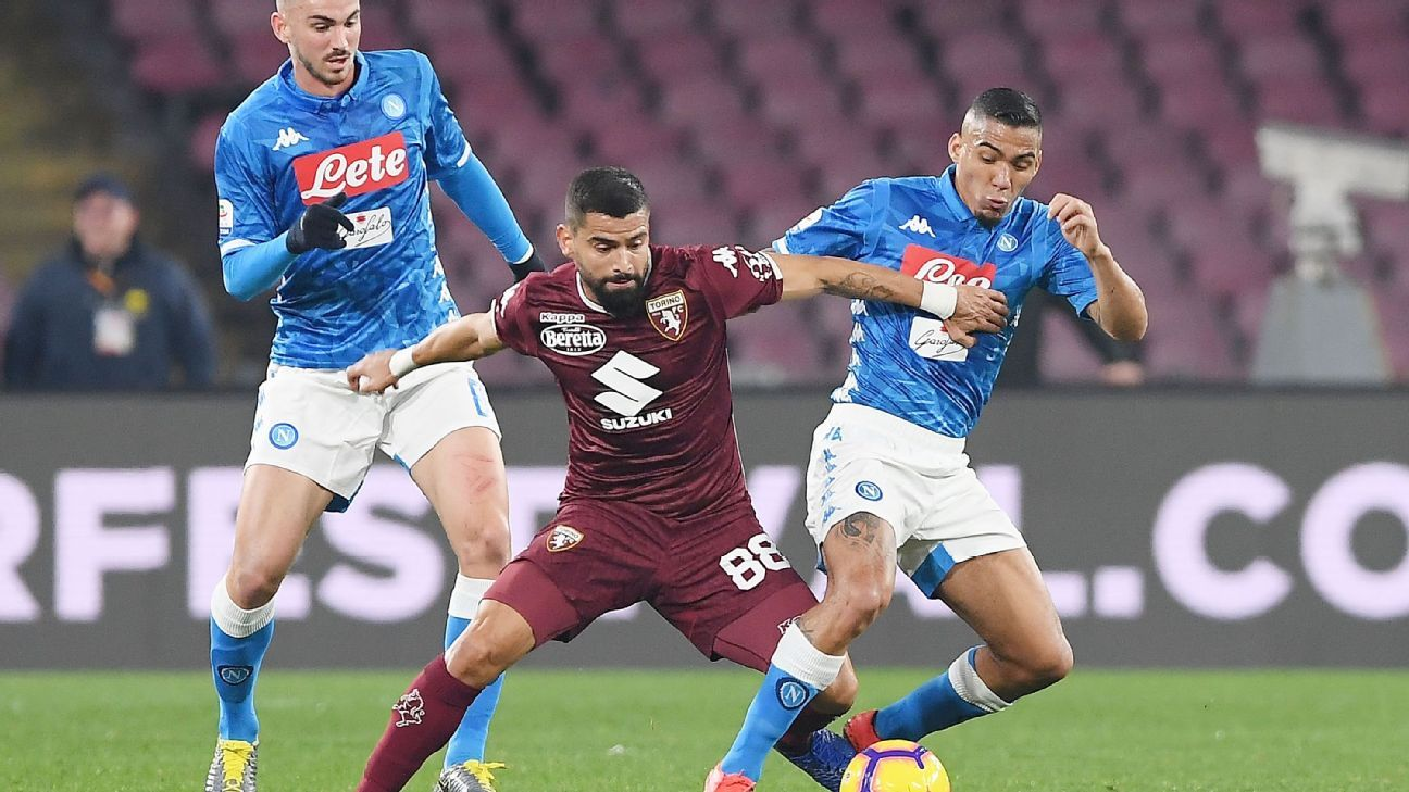 Napoli held to another draw by Torino in latest Serie A stalemate