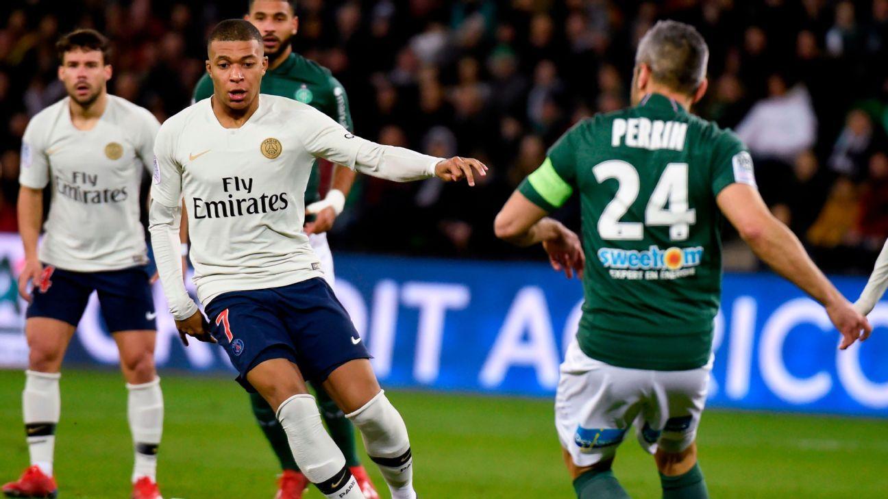 Kylian Mbappe 8/10, Marquinhos 7/10 in PSG's win over Saint-Etienne