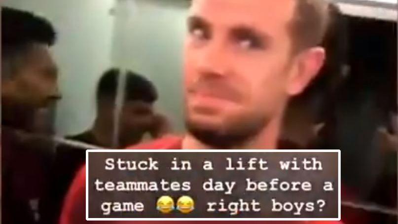 Liverpool stars prepare for Bayern Munich clash by getting stuck in elevator