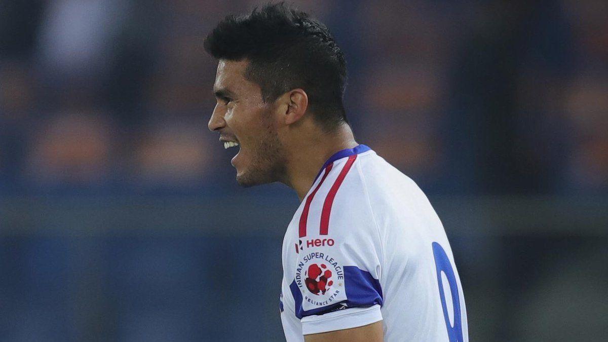 Ulises Dávila se estrenó como goleador con Delhi Dynamos en la India