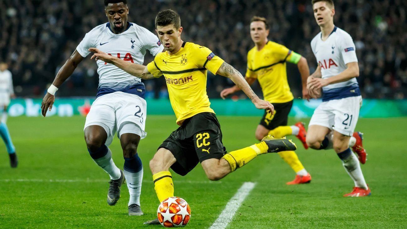 Borussia Dortmund's Christian Pulisic sits out with thigh injury