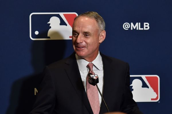 Rob Manfred: Slow free-agent market may be 'much ado about nothing'