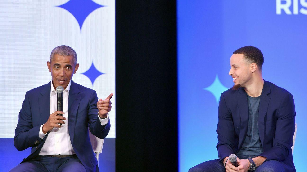 Stephen Curry acompaña a Barack Obama en charla con jóvenes de minorías