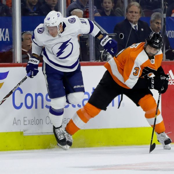 Flyers' Radko Gudas suspended 2 games for high-sticking Lightning's Nikita Kucherov