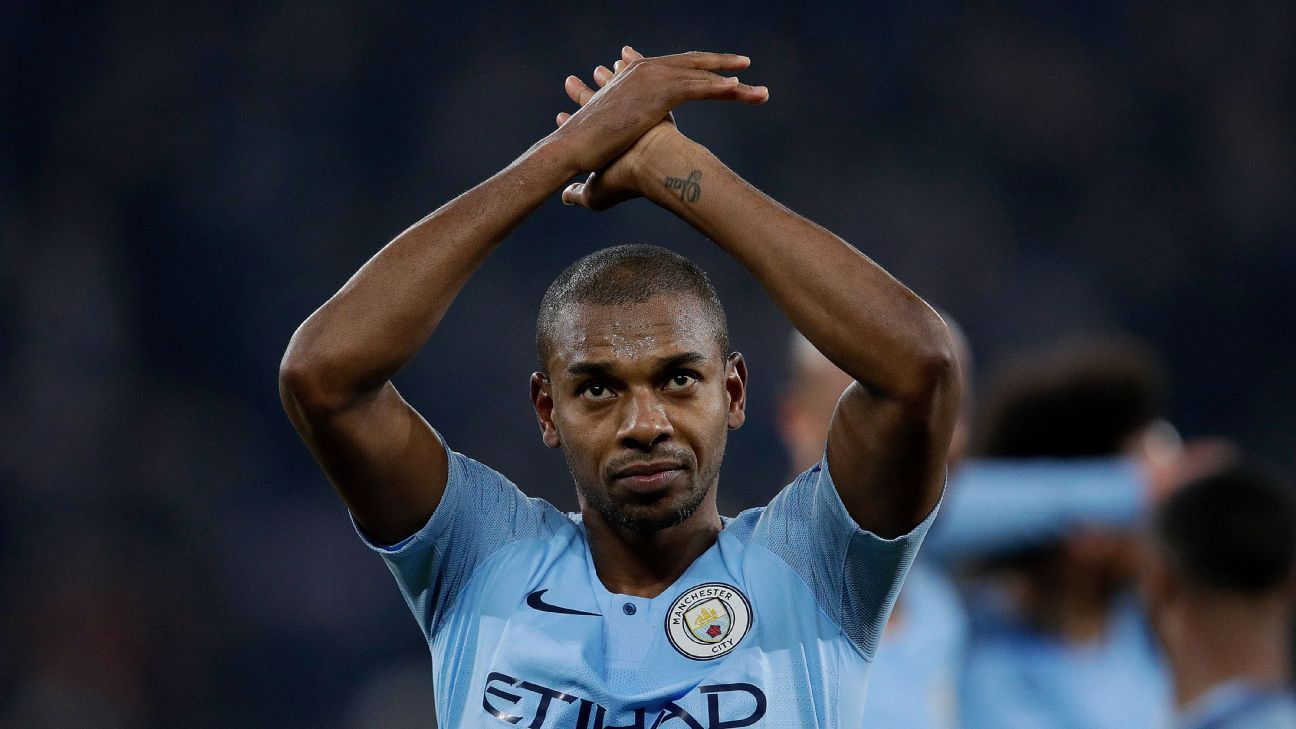 Fernandinho: Manchester City playing 'like animals' in title hunt