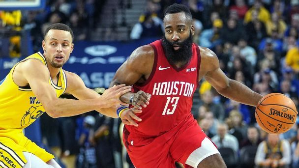 How James Harden relentlessly attacks Steph Curry