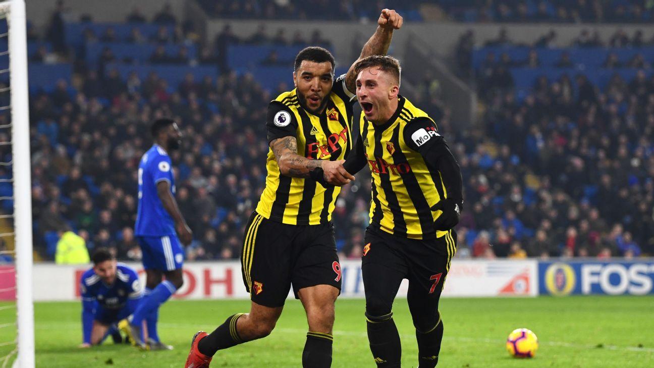 Gerard Deulofeu hat-trick fires Watford to win at Cardiff