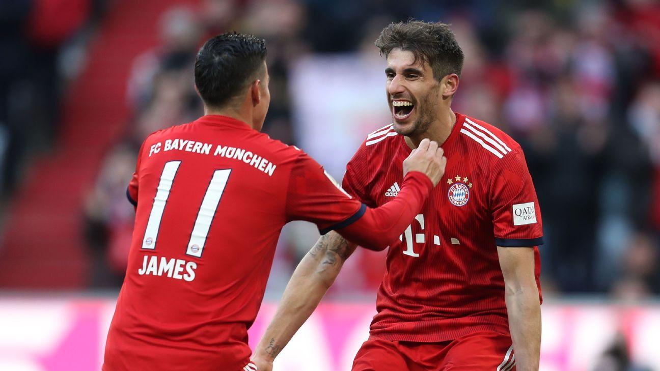 Con James, Bayern Munich venció a Hertha