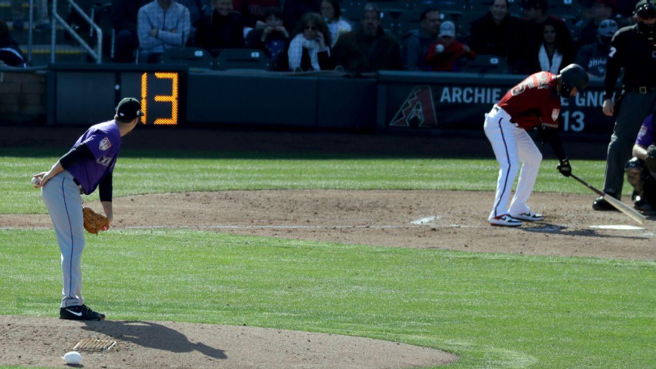 Comienza uso de reloj de lanzamientos en pretemporada de MLB