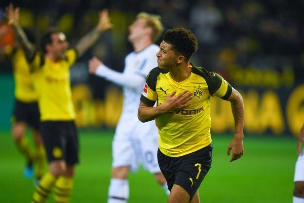 Jadon Sancho's score gives Borussia Dortmund win over Bayer Leverkusen