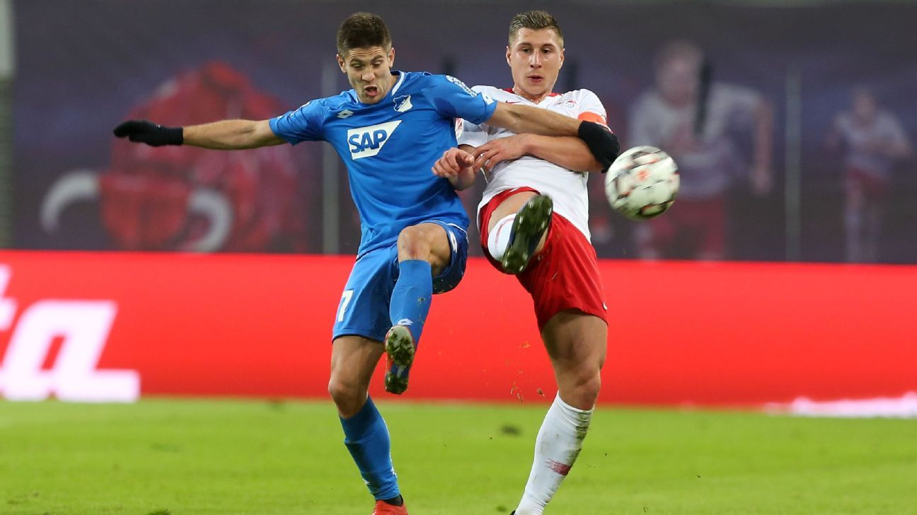 RB Leipzig's Willi Orban scores late in home draw with Hoffenheim