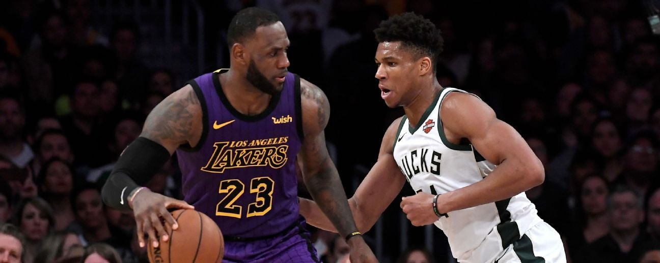 LeBron James y Giannis Antetokounmpo descartados para choque Lakers vs Bucks