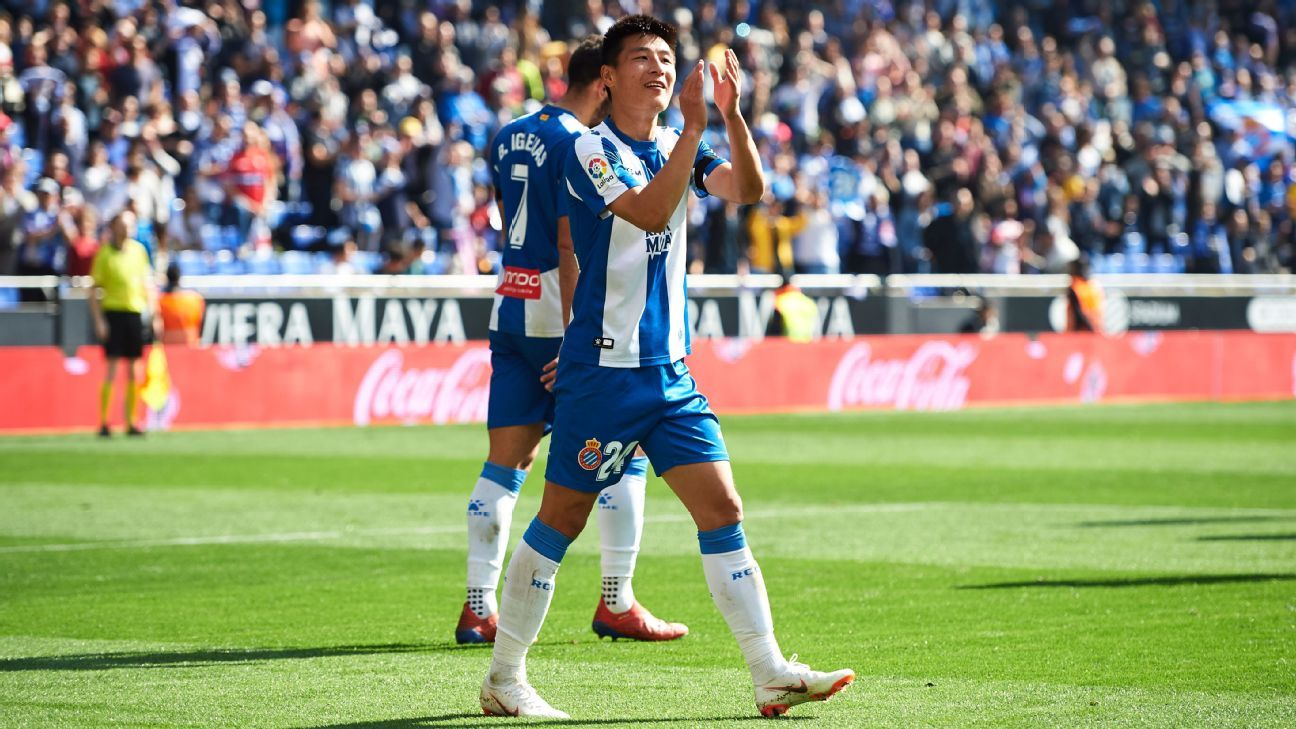 Wu Lei becomes first Chinese goal scorer in La Liga in Espanyol win vs. Valladolid