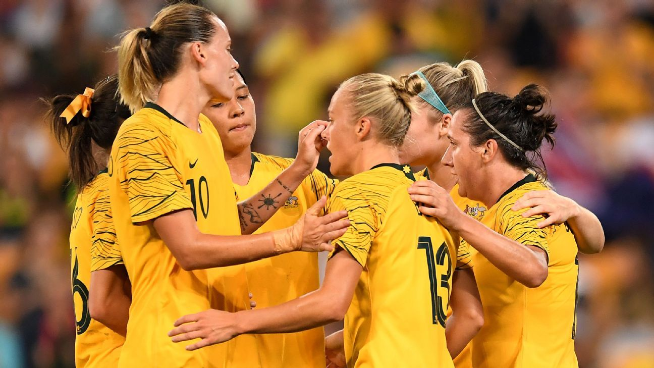 Kerr at the double, Matildas close on Cup of Nations glory after beating South Korea