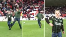 Blatant cheating in half-time fan race goes viral: 'We hope you enjoyed the 'trip'