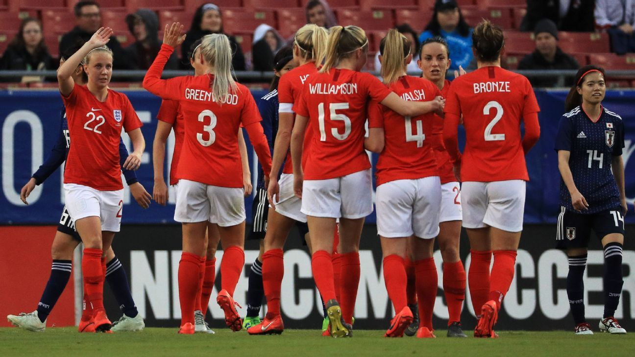 England ease past Japan to take top spot in SheBelieves Cup