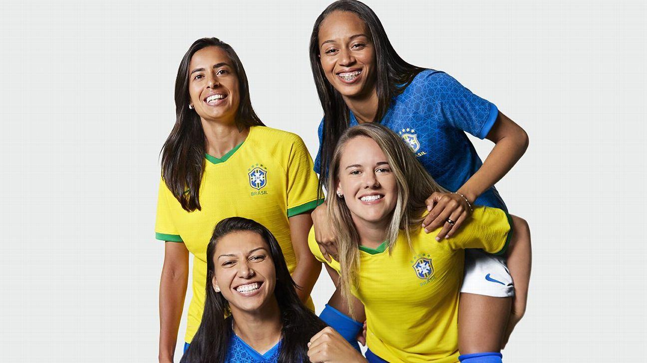 Seleção brasileira apresenta novas camisas 1 e 2 para a Copa do Mundo feminina