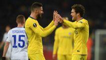 Chelsea demolish Dynamo Kiev with Giroud hat trick to reach Europa quarters