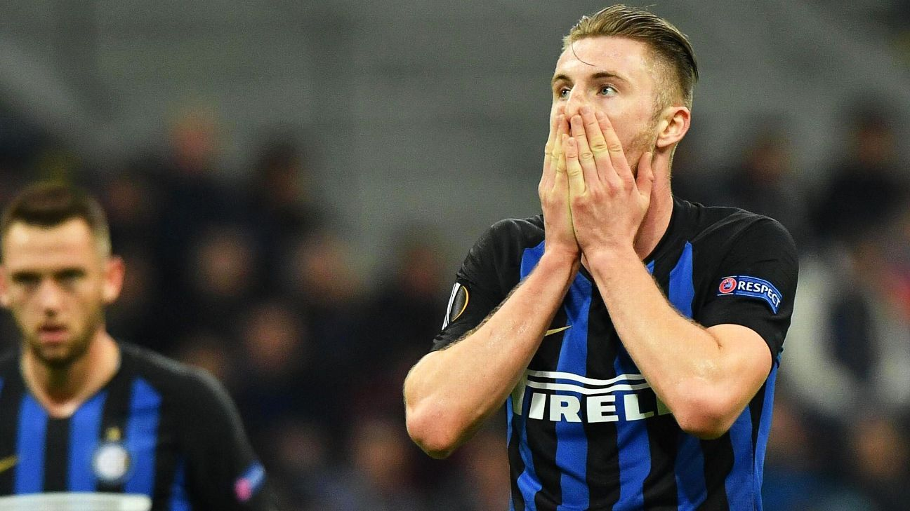 Inter Milan out of Europa League after loss to Eintracht Frankfurt