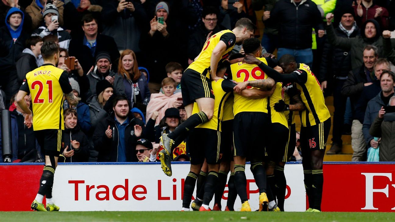 Watford beat Crystal Palace to seal FA Cup semifinal place