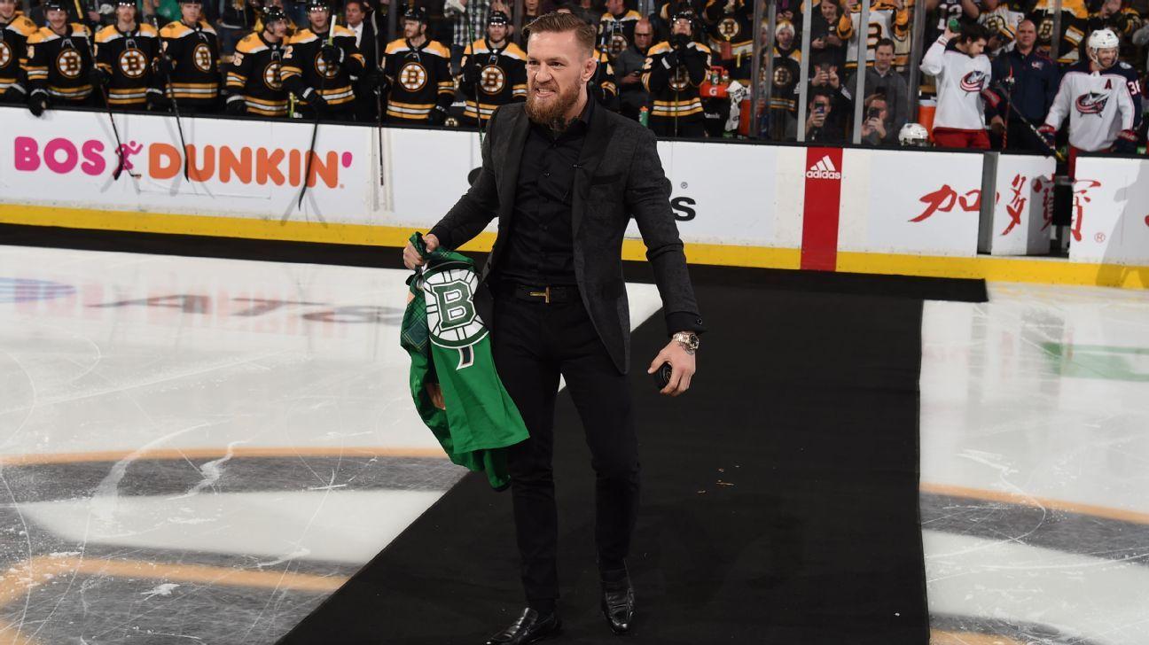 Conor McGregor motivó a los Bruins previo a su victoria