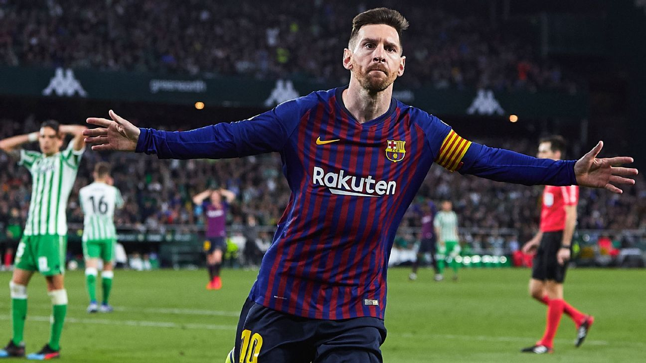 Marvellous Messi hits hat trick as Barcelona torment Real Betis