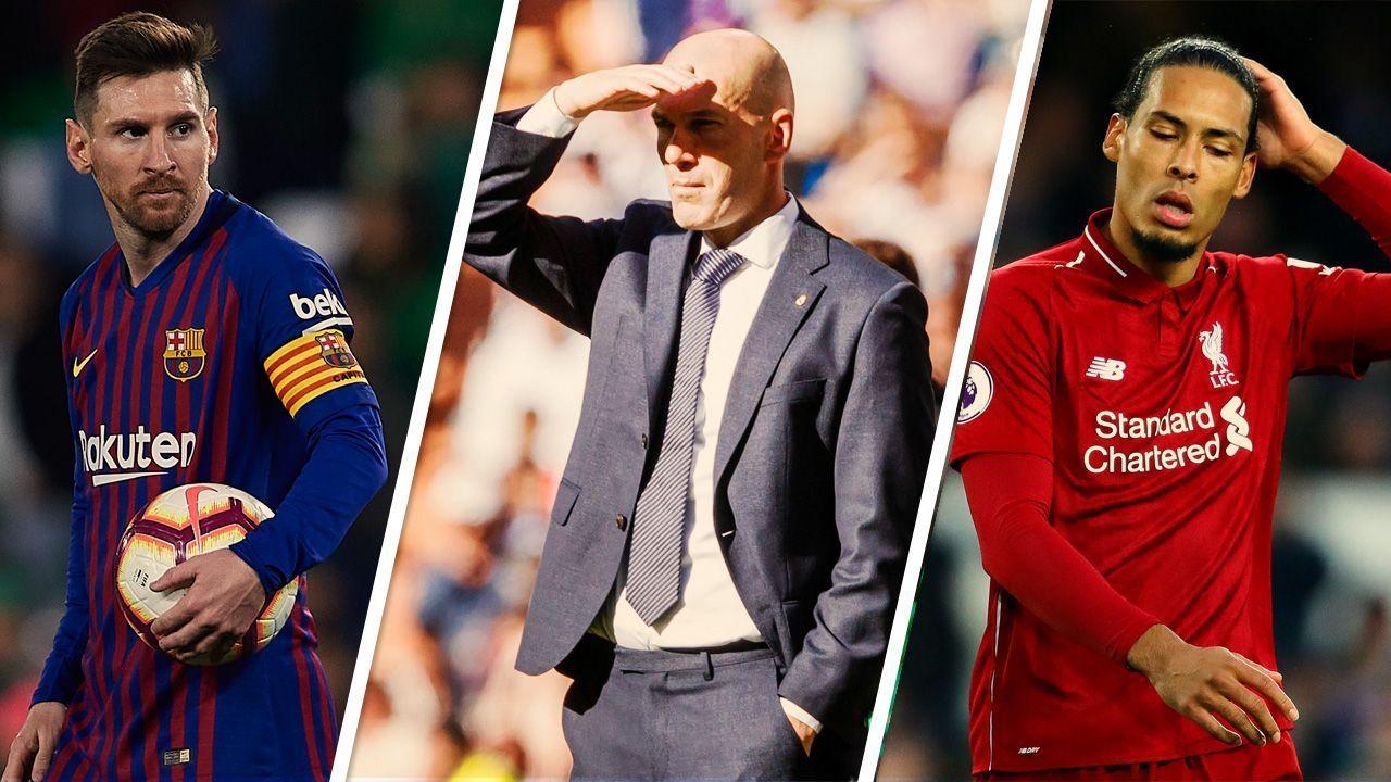 Messi 'soberano', Zidane de volta ao Real e pixotada de 'xerifão' do Liverpool; veja resumo do fim de semana
