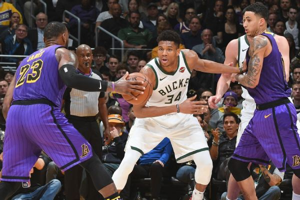 Giannis questionable vs. Lakers with ankle sprain