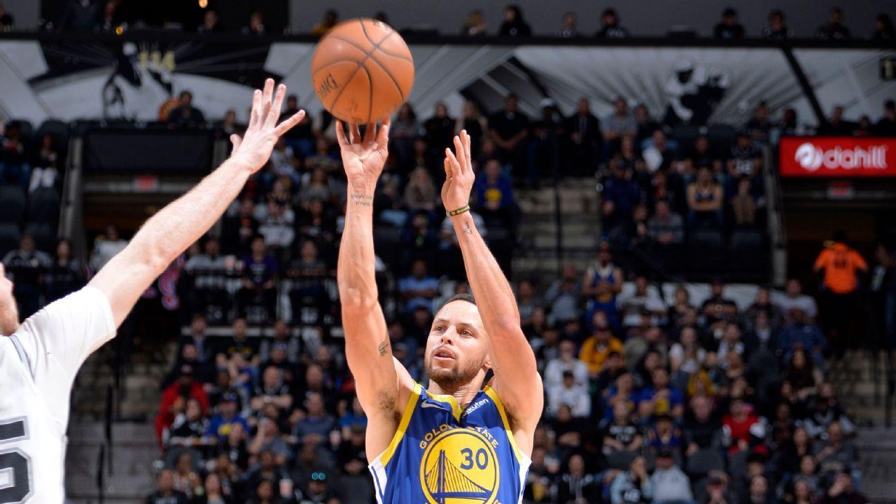 Stephen Curry acierta triple de 18.6 metros, el más largo de la temporada