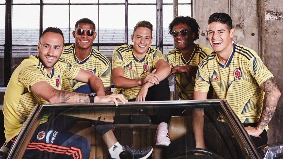 Con James y Falcao, la Selección Colombia presentó su nueva camiseta