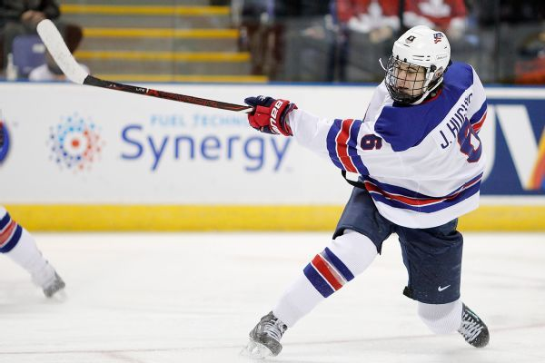 Likely No. 1 NHL pick Hughes sets U.S. record