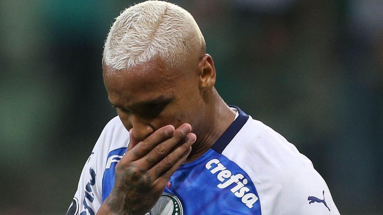 Deyverson lesiona coxa e desfalca Palmeiras por até 3 semanas