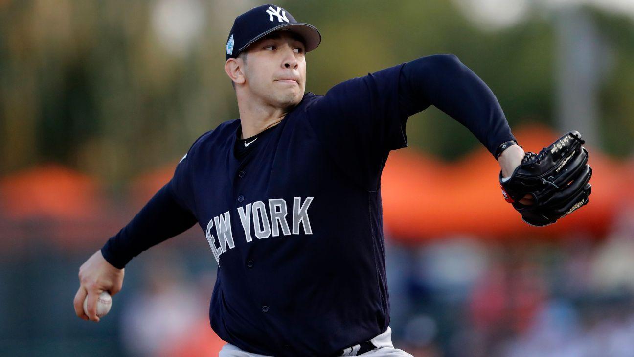 Mexicano Luis Cessa estará en Día Inaugural con Yankees
