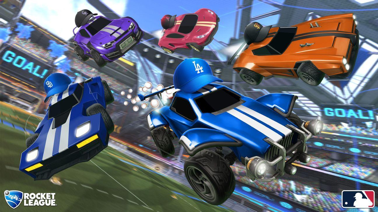 Personalize os carros de Rocket League com itens do seu time favorito da MLB