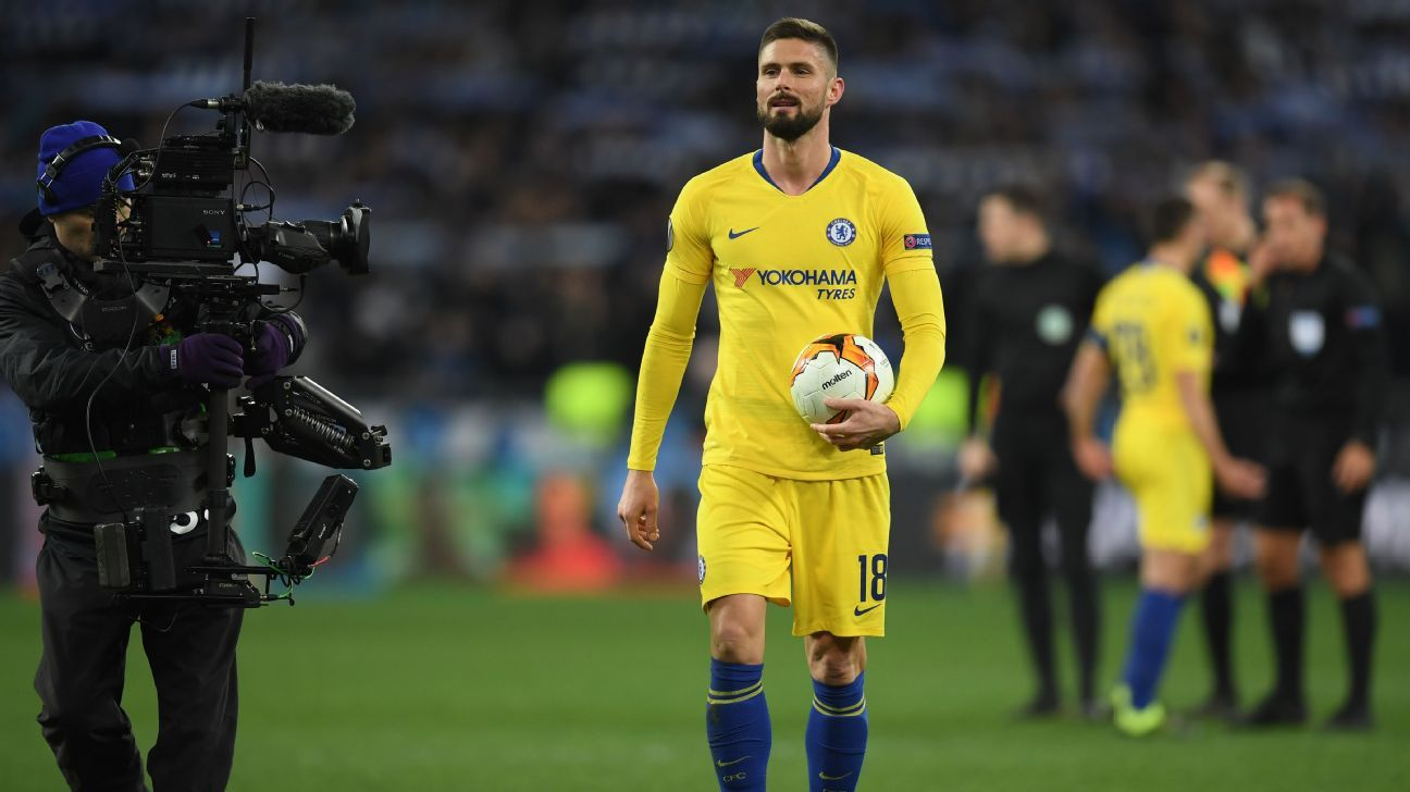 Chelsea's Giroud: Sarri not giving me fair chance since Higuain's arrival
