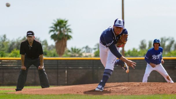 Law: Padres prospect Patino shows off electric stuff