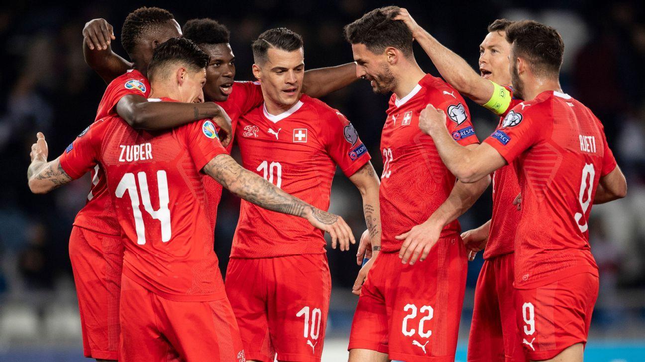 Second-half goals see Switzerland past Georgia