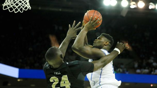 Zion Williamson vs. Tacko Fall -- updated NCAA tournament tale of the tape