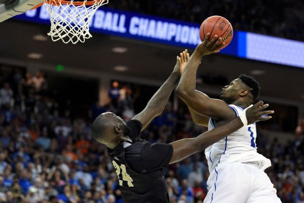 UCF upset bid thwarted by Duke's Zion, Barrett
