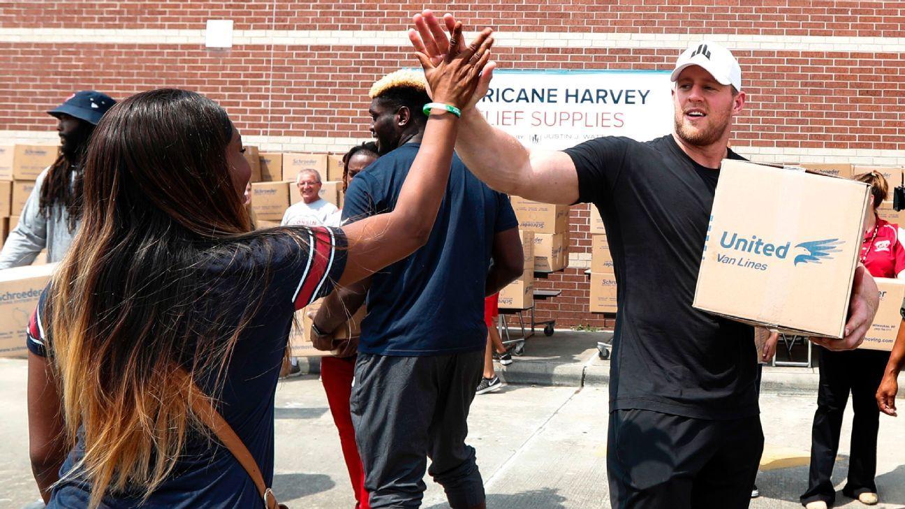 NFL: JJ Watt, o 'homão da p...', faz 30 anos como ídolo dos Texans, exemplo fora de campo e anjo em furacão