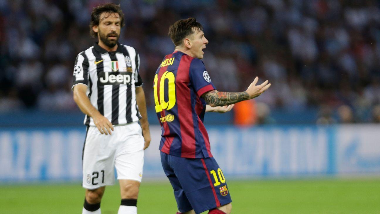 Andrea Pirlo ve superior a Juventus sobre Barcelona