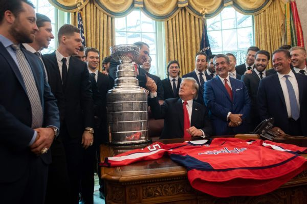 Stanley Cup-winning Capitals visit White House