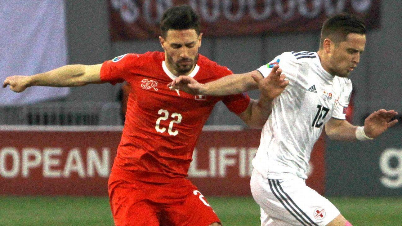 Switzerland drop Fabian Schar after playing through head injury vs. Georgia